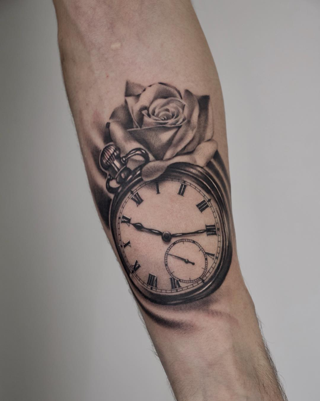 Realistic Stopwatch Tattoo Toronto
