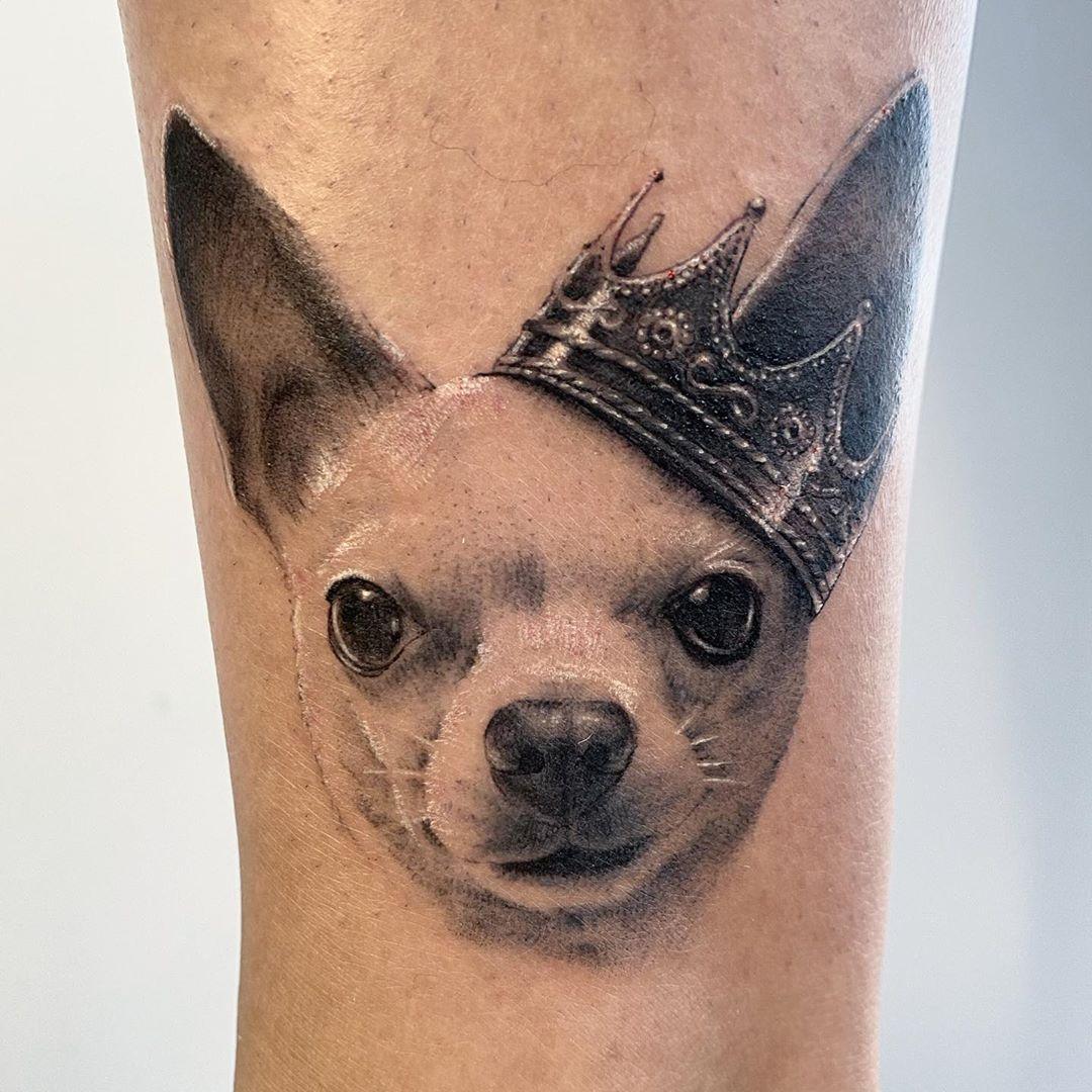 Chihuahua Realism Tattoo Toronto