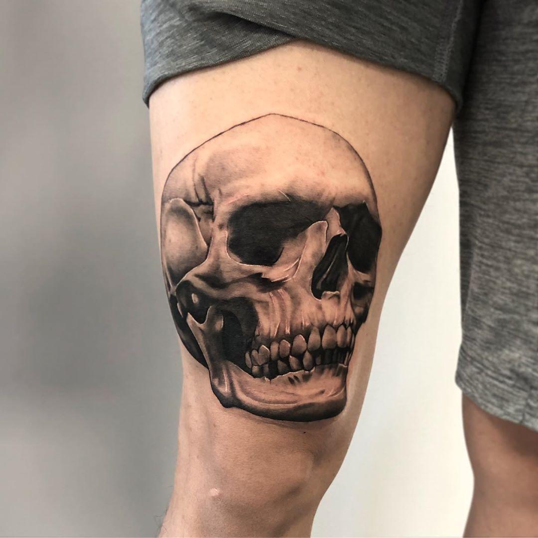 Realistic Skull Tattoo Toronto