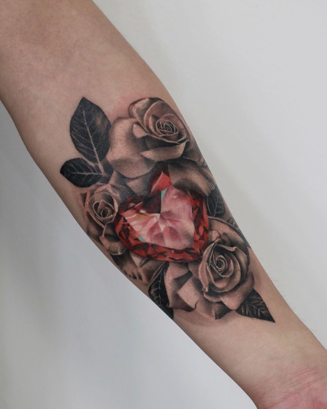 Realistic Rose Tattoo Toronto