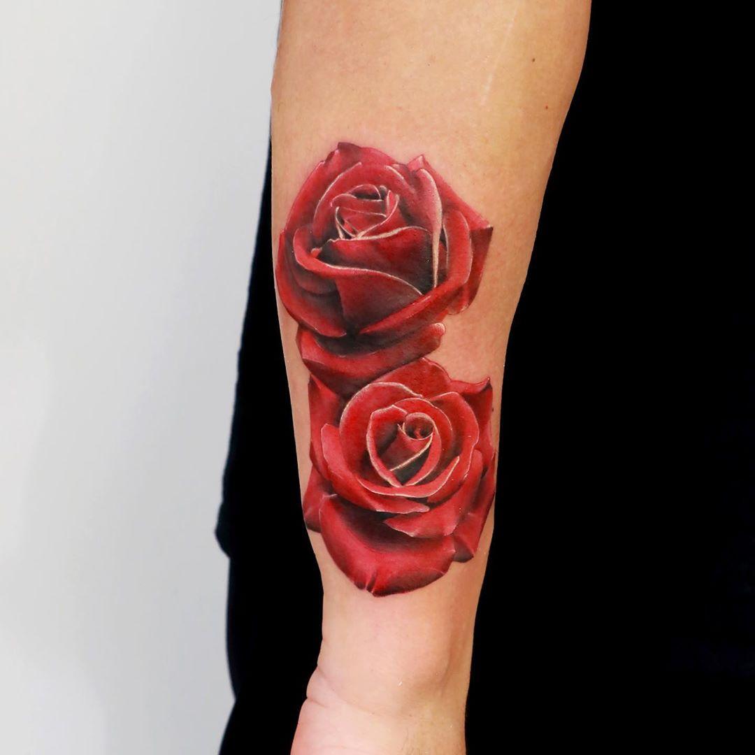 Rose Realism Tattoo Toronto