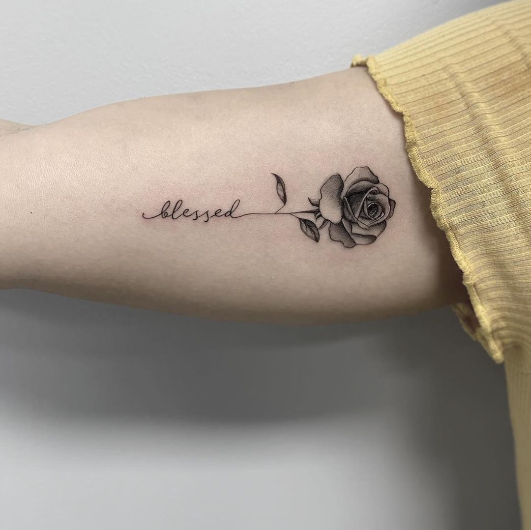 Best Black and Grey Rose Tattoo Toronto