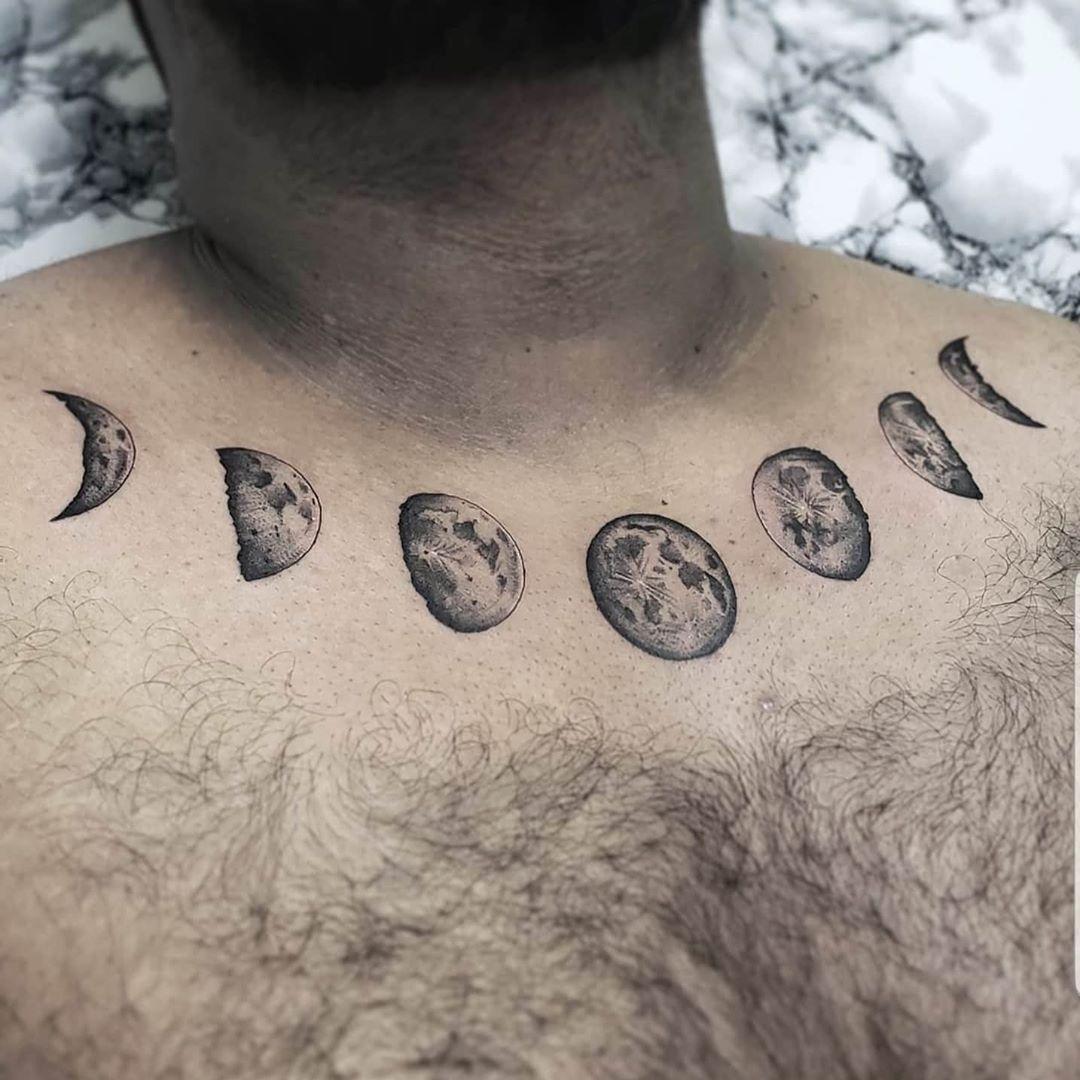 llustrative Moon Tattoos