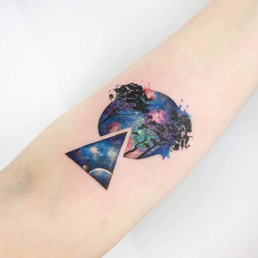Illustrative Galaxy Tattoos