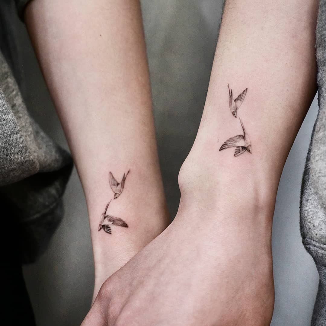 Illustrative Bird Tattoos