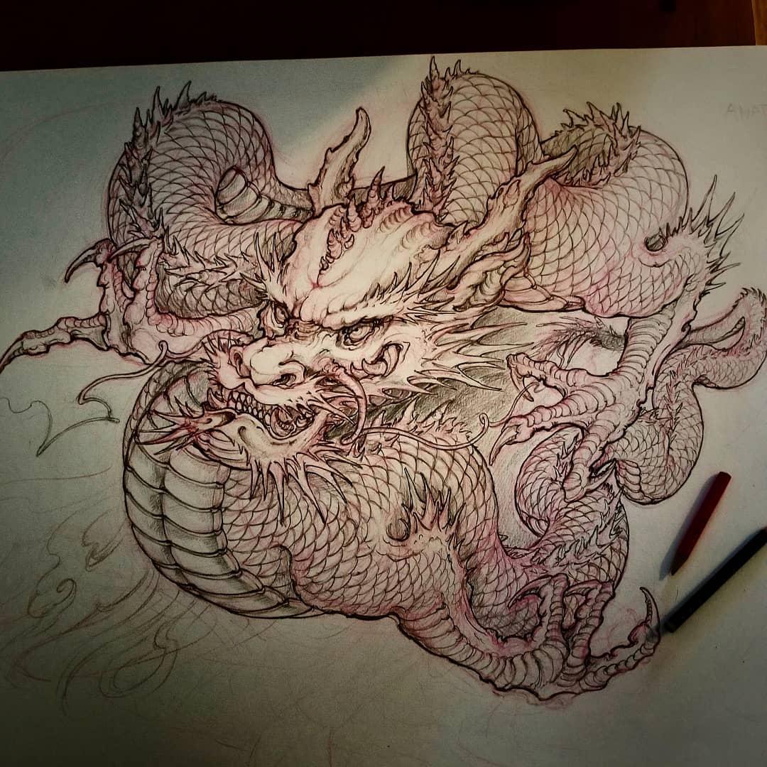 Dragon Drawing Best Asian Tattoo Artist