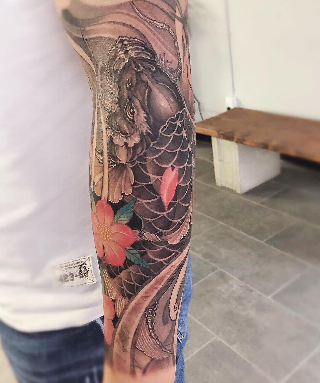 Koi Fish Best Asian Tattoo Artist Toronto