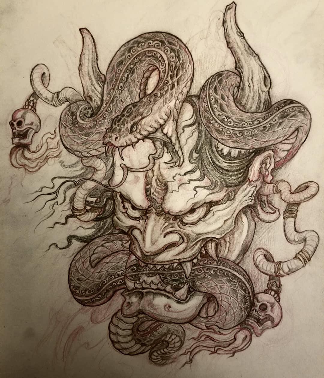 Tattoo Drawing Asian Tattoo North York