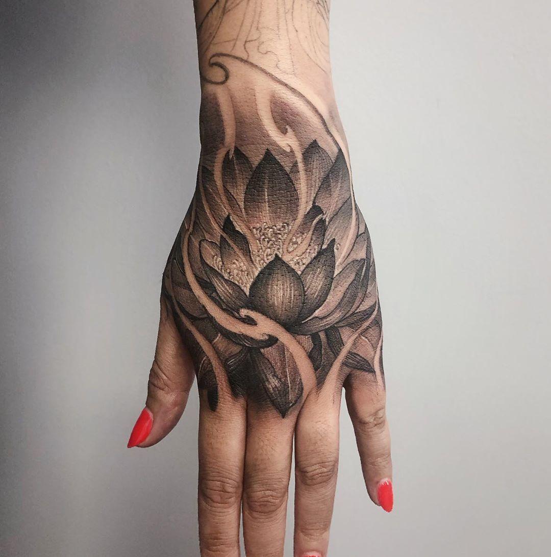Lotus Flower Asian Tattoo Toronto